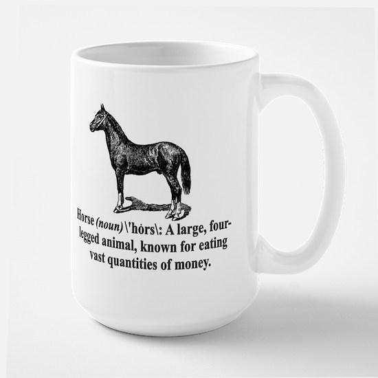 Definition of a Horse Large Mug
