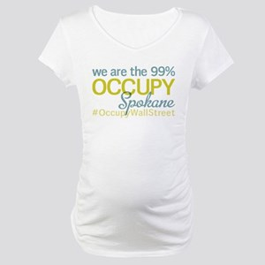 Occupy Spokane Maternity T-Shirt