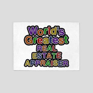 World's Greatest REAL ESTATE APPRAISER 5'x7' Area