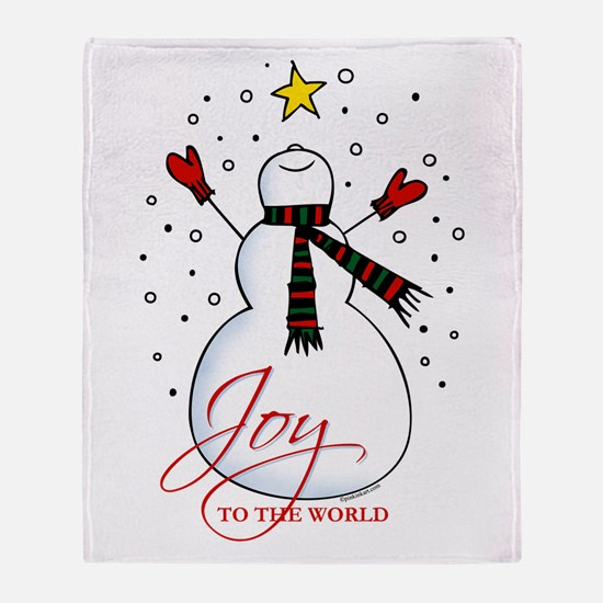 Snowman Joy Throw Blanket