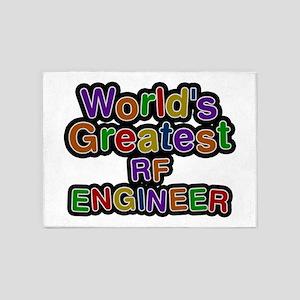 World's Greatest RF ENGINEER 5'x7' Area Rug