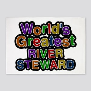 World's Greatest RIVER STEWARD 5'x7' Area Rug