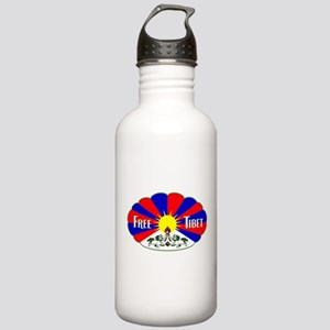 Free Tibet - Human Rights Stainless Water Bottle 1