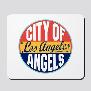Los Angeles Vintage Label Mousepad