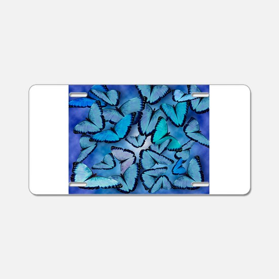 Butterfly Madness Aluminum License Plate