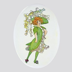Flower Fairy Ornament (Oval)
