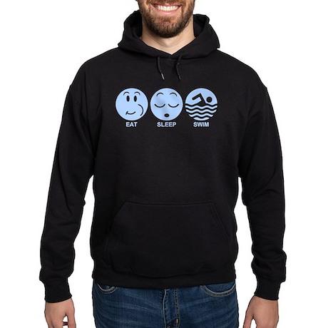 Eat Sleep Swim Hoodie (dark)