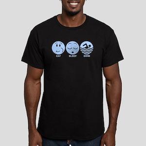 Eat Sleep Swim Men's Fitted T-Shirt (dark)