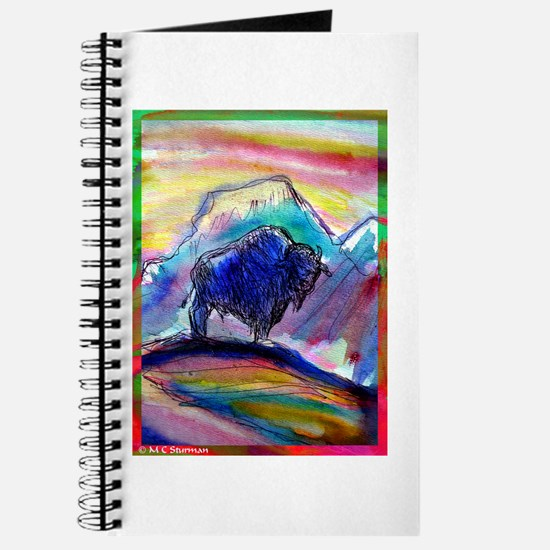 Buffalo, colorful, art, Journal