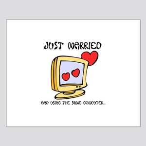 Just Married Geeks Small Poster