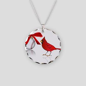 Baseball Christmas Necklace Circle Charm