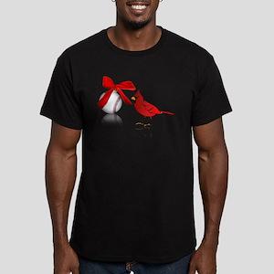 Baseball Christmas Men's Fitted T-Shirt (dark)
