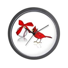 Baseball Christmas Wall Clock
