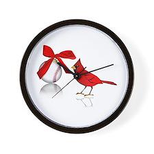 Baseball Christmas Wall Clock