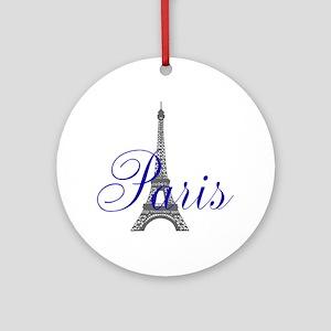 Paris Always (bleu) Ornament (Round)