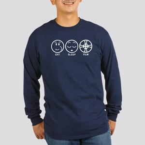 Eat Sleep Film Long Sleeve Dark T-Shirt