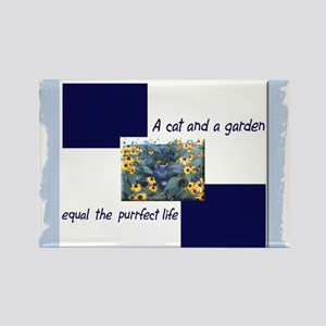 Cat & Garden Purrfect Rectangle Magnet