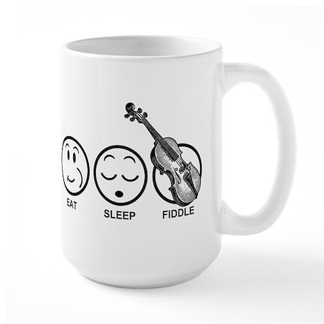 Eat Sleep Fiddle Large Mug