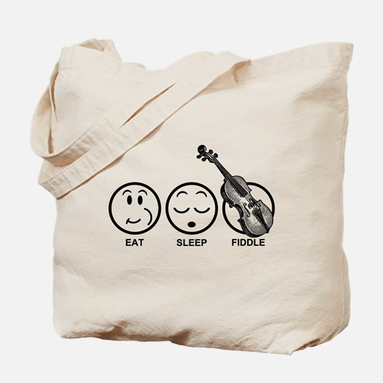 Eat Sleep Fiddle Tote Bag