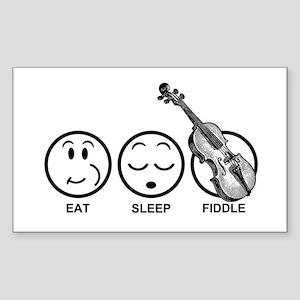 Eat Sleep Fiddle Sticker (Rectangle)