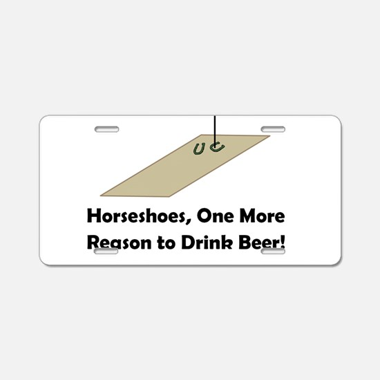 Cute Horseshoe Aluminum License Plate