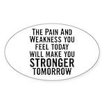 Stronger Tomorrow Sticker (Oval)