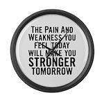 Stronger Tomorrow Large Wall Clock