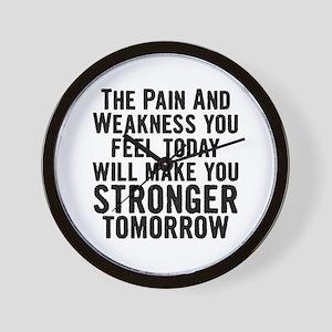 Stronger Tomorrow Wall Clock