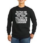 Stronger Tomorrow Long Sleeve Dark T-Shirt