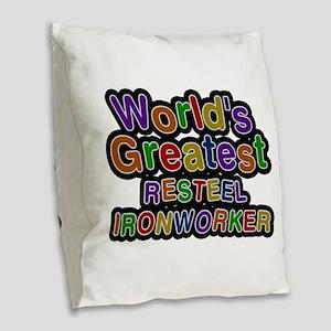 World's Greatest RESTEEL IRONWORKER Burlap Throw P