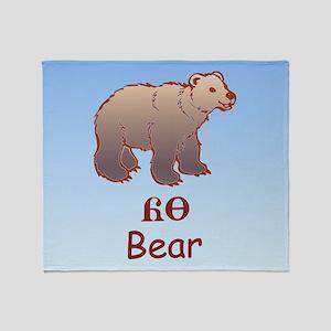 Baby Cherokee Bear Throw Blanket
