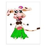 Luna, the hula-hula moo-cow Small Poster