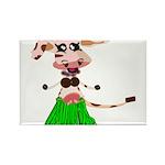 Luna, the hula-hula moo-cow Rectangle Magnet (10 p