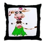 Luna, the hula-hula moo-cow Throw Pillow
