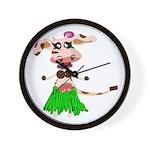 Luna, the hula-hula moo-cow Wall Clock
