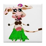 Luna, the hula-hula moo-cow Tile Coaster