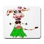 Luna, the hula-hula moo-cow Mousepad