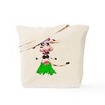 Luna, the hula-hula moo-cow Tote Bag