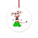 Luna, the hula-hula moo-cow Ornament (Round)