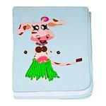 Luna, the hula-hula moo-cow baby blanket