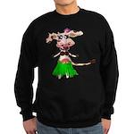 Luna, the hula-hula moo-cow Sweatshirt (dark)