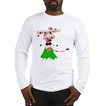 Luna, the hula-hula moo-cow Long Sleeve T-Shirt