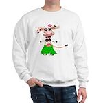 Luna, the hula-hula moo-cow Sweatshirt