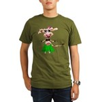 Luna, the hula-hula moo-cow Organic Men's T-Shirt