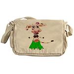 Luna, the hula-hula moo-cow Messenger Bag