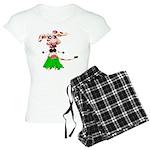 Luna, the hula-hula moo-cow Women's Light Pajamas