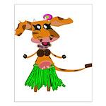 Sola the hula-hula moo-cow Small Poster