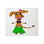 Sola the hula-hula moo-cow Throw Blanket