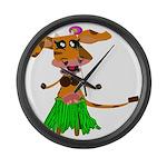Sola the hula-hula moo-cow Large Wall Clock