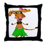 Sola the hula-hula moo-cow Throw Pillow